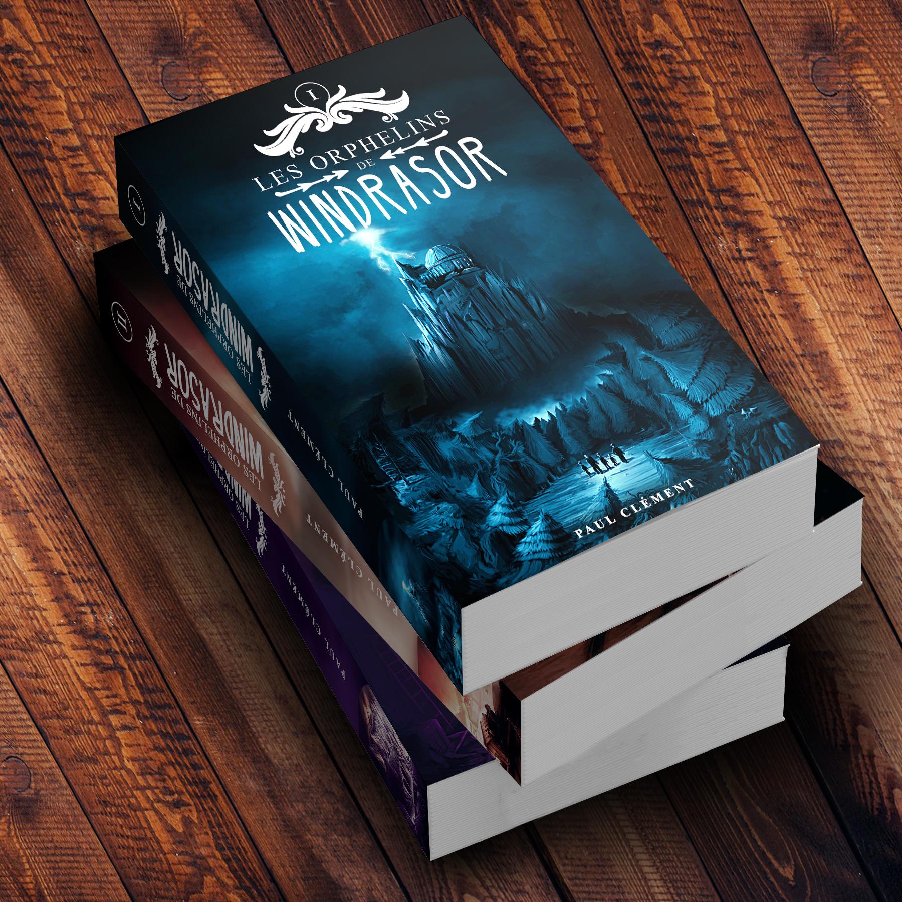 Couverture : Les Orphelins de Windrasor Edition Trilogie